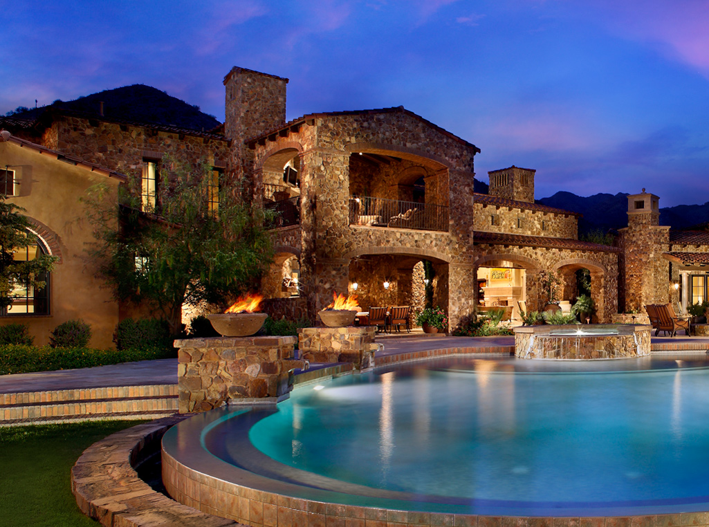 Phoenix az luxury home builders for Beautiful luxury houses